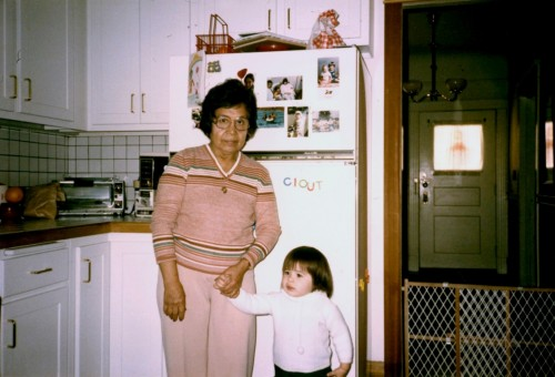 Nana Petra and me. Circa 1987 or so. Photo courtesy of Ed Forman,