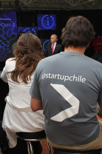 jean back and cheyre at StartUpChile inauguration