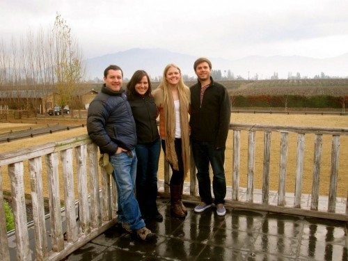 Marcelo, Emma, Ben and me at a gorgeous restaurant in Chile's wine country.