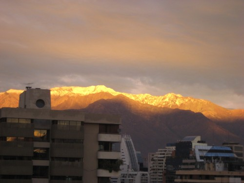 gorgeous sunset,  Santiago Chile
