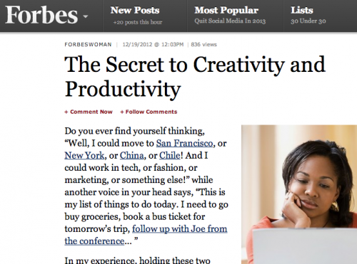 My article was published in Forbes!