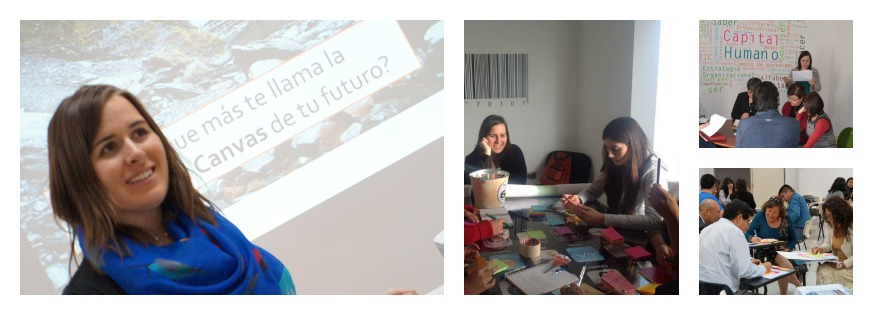 This is a collage of photos from workshops that Leslie Forman led in Iquique, Chile.