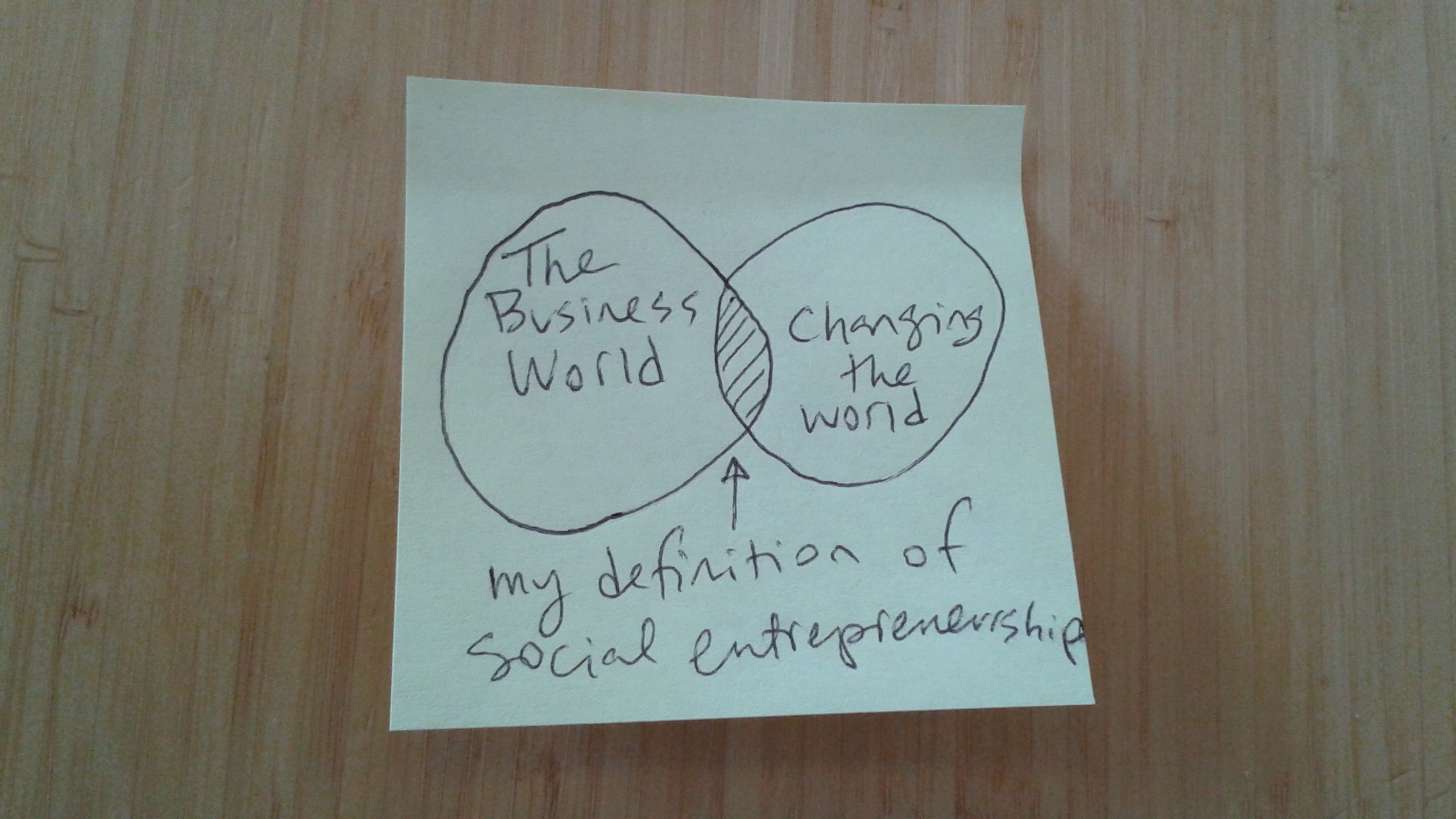 My Definition of Social Entrepreneurship: The Intersection Between the Business World and Changing the World